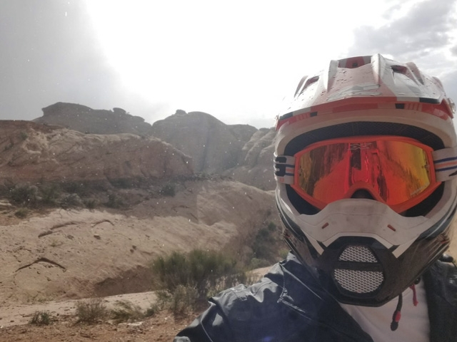 Helmet and goggles southern Utah